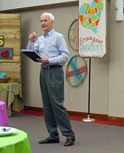 Rev. Kyle Maxwell speaking at ODF Generosity seminar